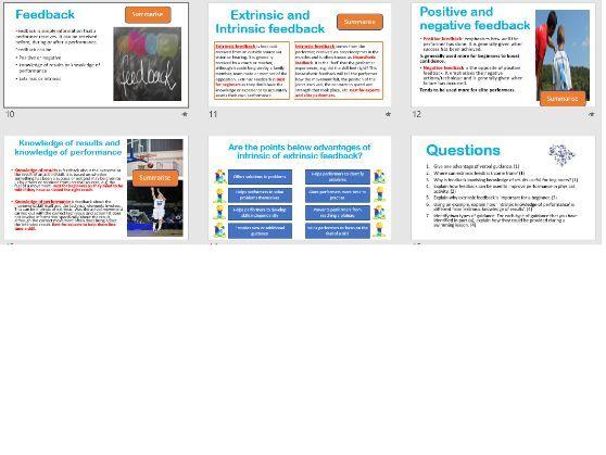 Guidance and Feedback GCSE PE
