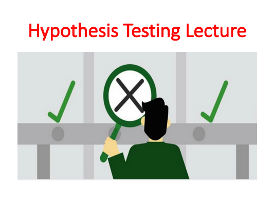 Hypothesis Testing Lecture (Elementary Statistics Module)