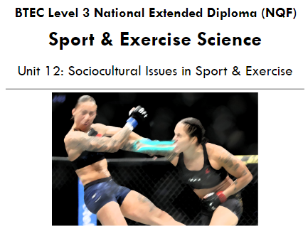 Unit 12 - Sociocultural Issues in Sport and Exercise - Barriers to Participation in Sport