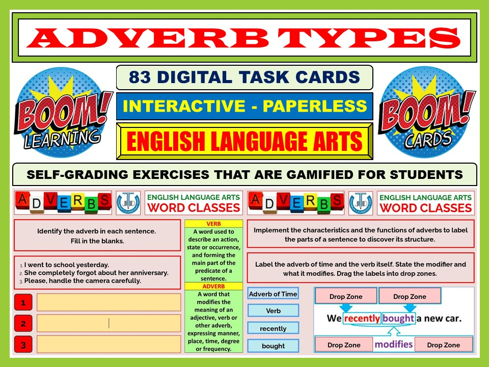 ADVERB TYPES: 83 BOOM CARDS