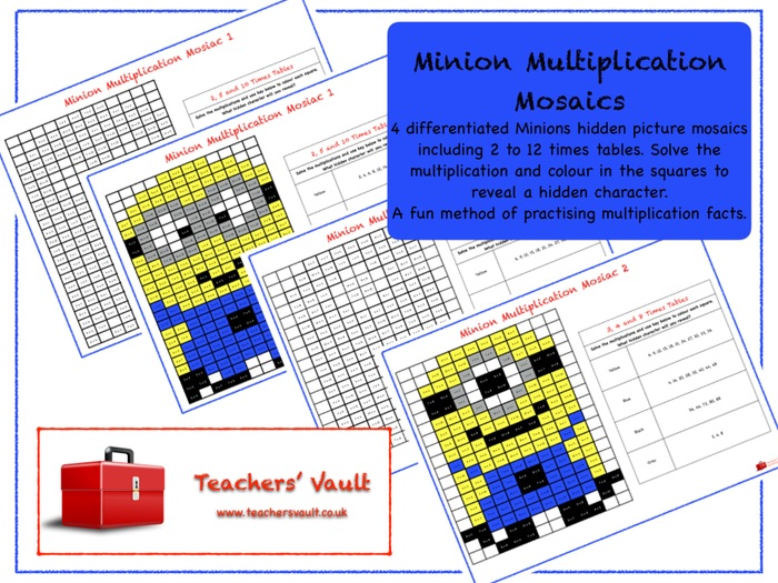 Minion Multiplication Mosaics