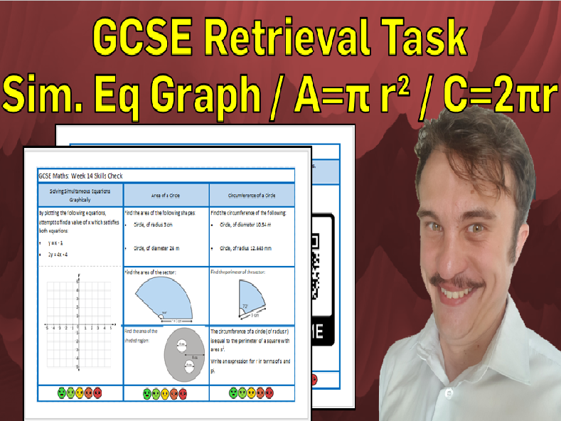 Simultaneous Equations Graphically and Circles GCSE Foundation/Resit Retrieval Sheet