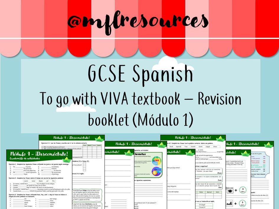 GCSE Spanish - Módulo 1 ¡Desconéctate! Revision booklet
