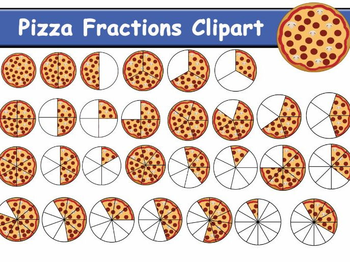 Pizza Fractions Clipart (81 items)