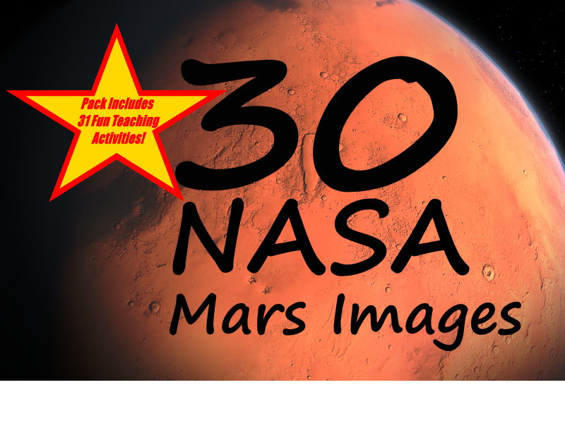 30 NASA pictures of Mars PowerPoint Presentation + 31 Fun Teaching Activities For These Cards