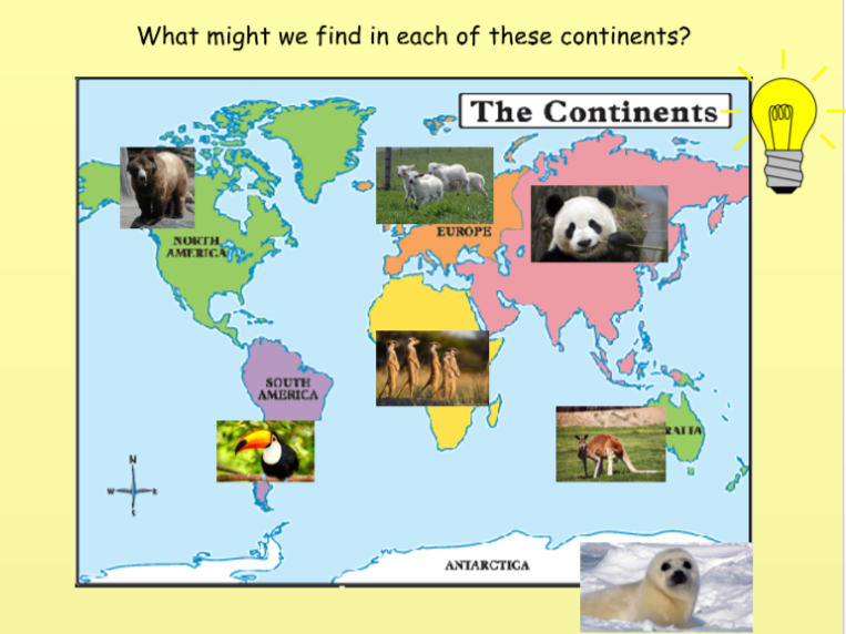 Year 1 To investigate places. To know the 7 continents of the world.