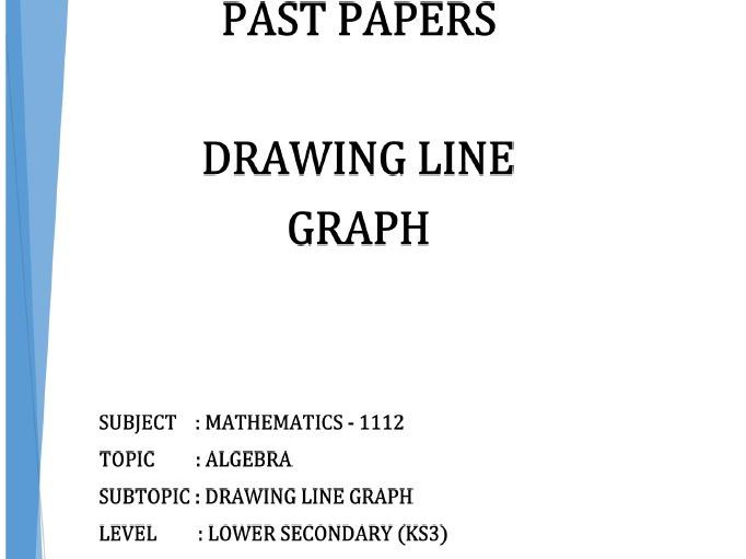 Cambridge Lower Secondary Checkpoint Topical Classified Past Papers-Mathematics-LINE GRAPHS