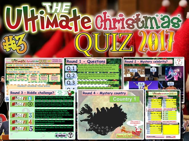 The Ultimate CHRISTMAS QUIZ 2017   #3 STUDENT'S FAVOURITE