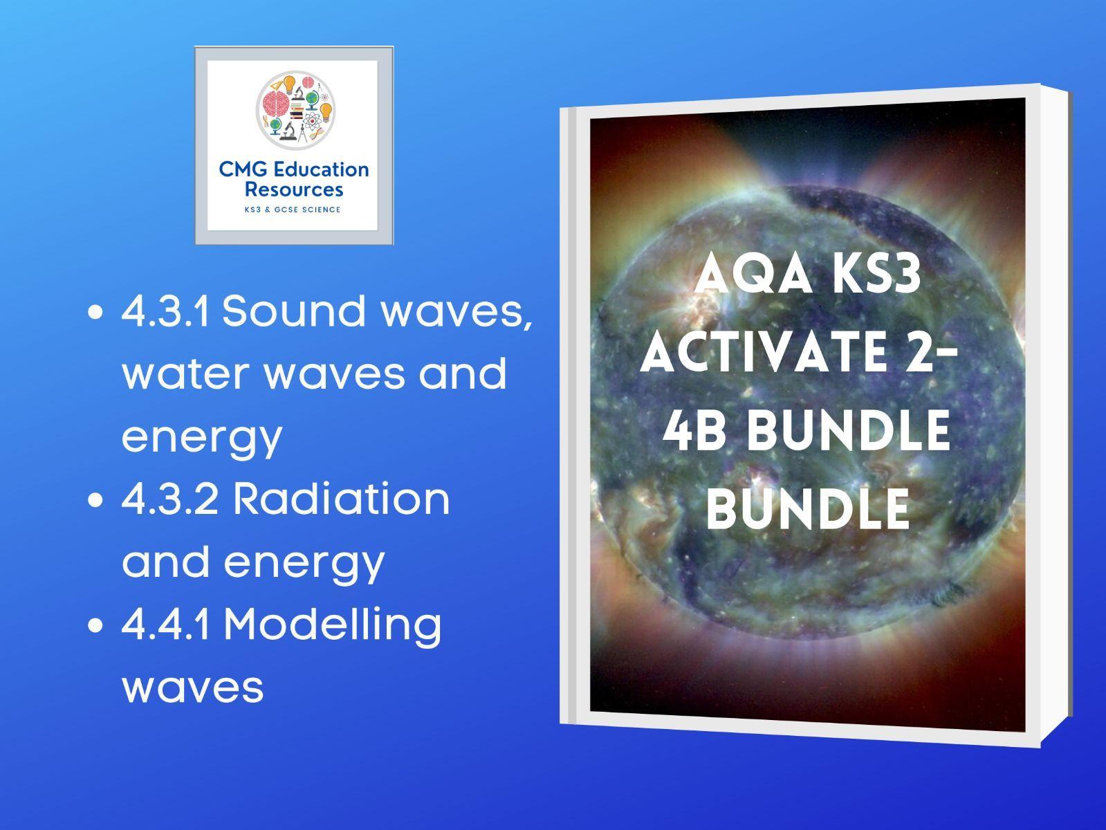 KS3 AQA Activate 2- 4b Waves bundle