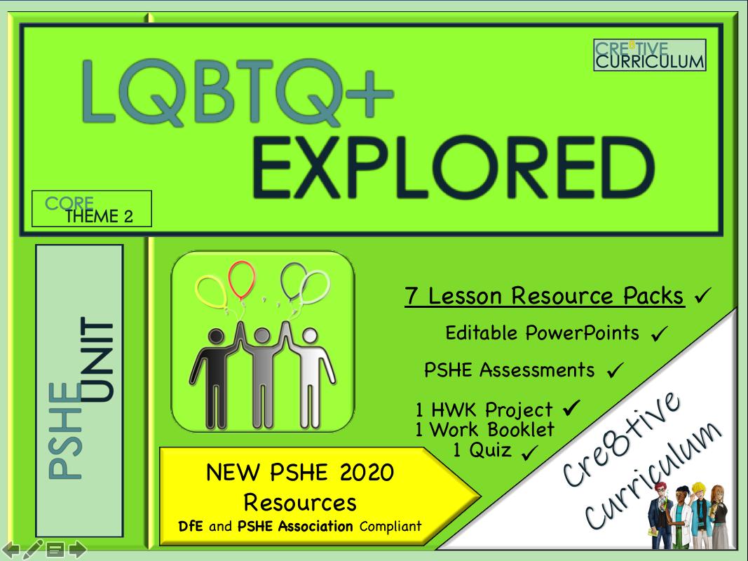 LGBTQ+ Unit PSHE 2020