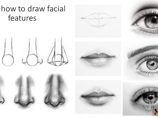 Step by step guide on how to draw facial features. Cover lesson or suitable for home learning