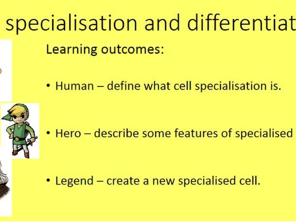 NEW AQA (8461) Cell Specialisation and Differentiation (Biology Trilogy)