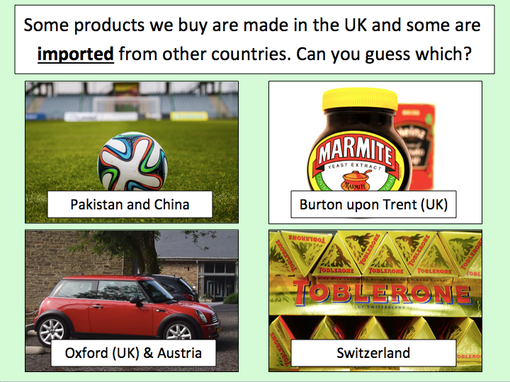 Understanding Trade - Investigating where the products we buy come from
