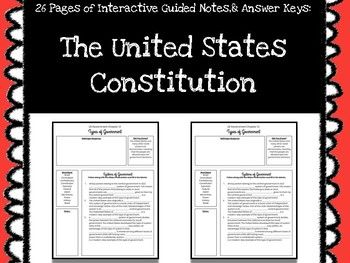 The United States Constitution Interactive Guided Notes