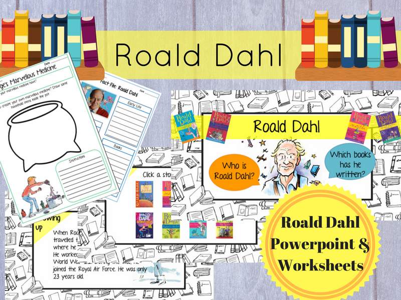 Roald Dahl Powerpoint + Worksheets