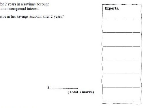 Compound Interest Exam Questions