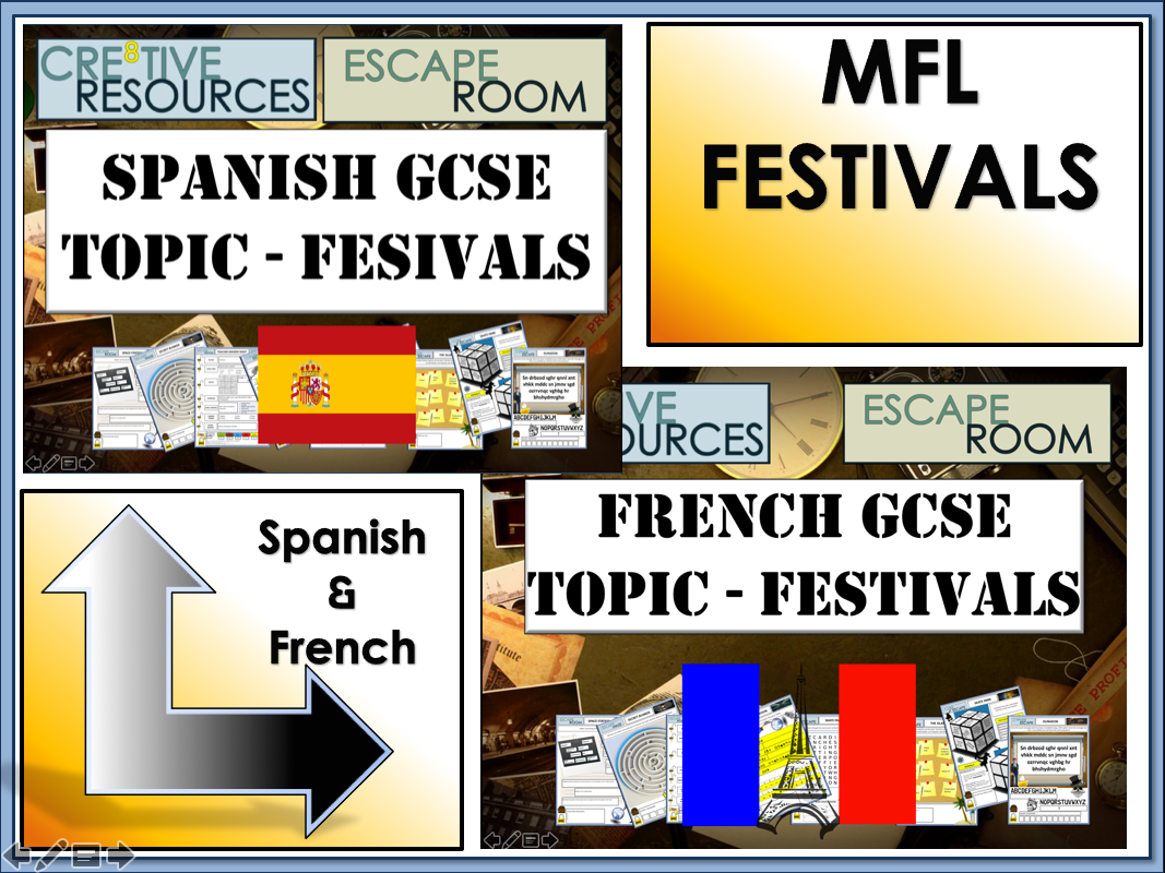 MFL Escape Rooms - GCSE Topic: Festivals