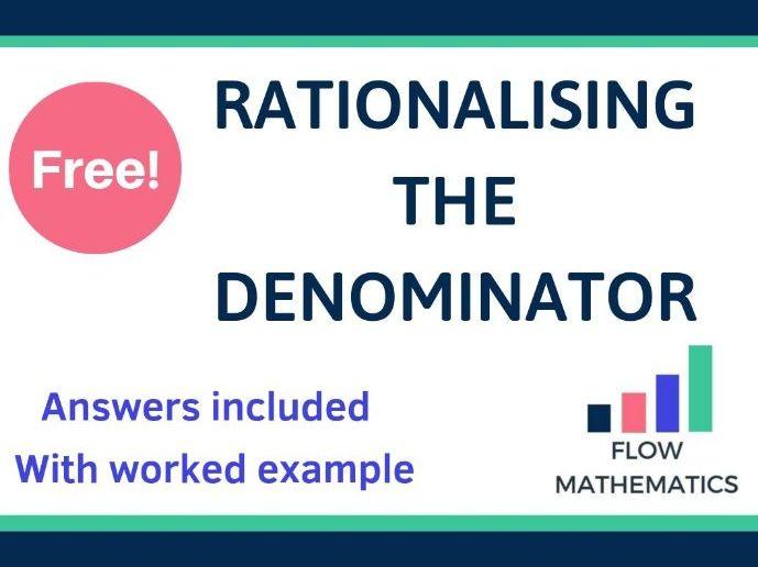 Rationalising the denominator worksheet