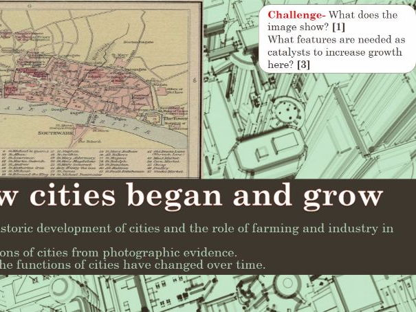 NEW OCR B Enquring Minds URBAN FUTURES 2017 3) How cities began and grew WITH ANSWERS