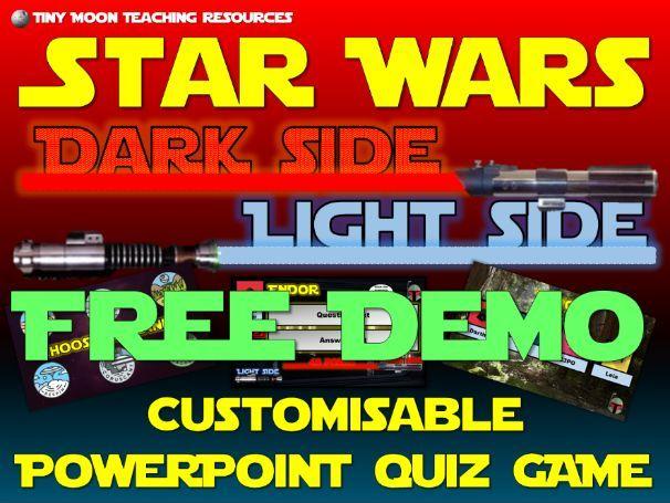 Star Wars Dark Side Light Side PowerPoint Quiz Game DEMO