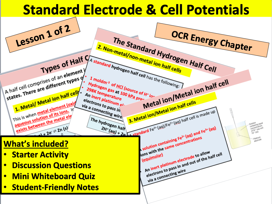 Standard Electrode & Cell Potentials (part 1)