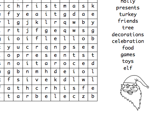 4 Christmas Wordsearches