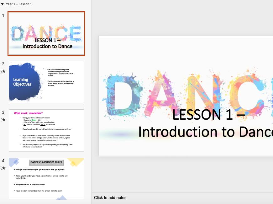 KS3 Dance (Tutting) Classroom Resource