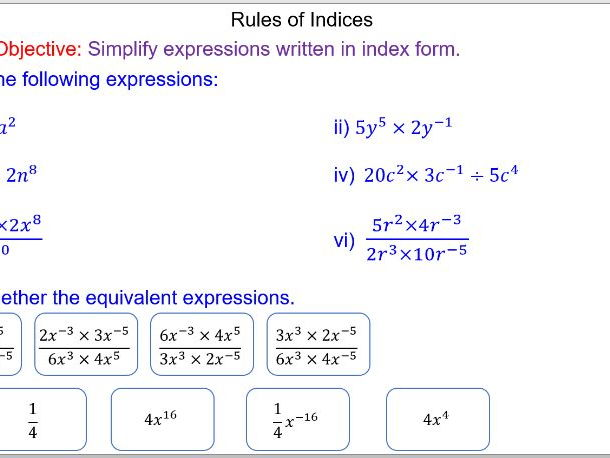 Powers Roots Indices and Standard Form GCSE Unit of Work by – Fractional Powers Worksheet