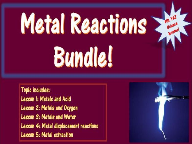 Metal Reactions Bundle KS3 Science