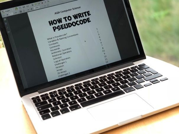 Pseudocode Booklet EDITABLE for GCSE Computer Science