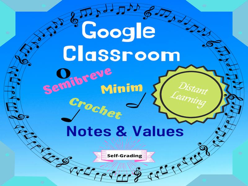 GOOGLE CLASSROOM Music Theory: Semibreve/Minim/Crotchet