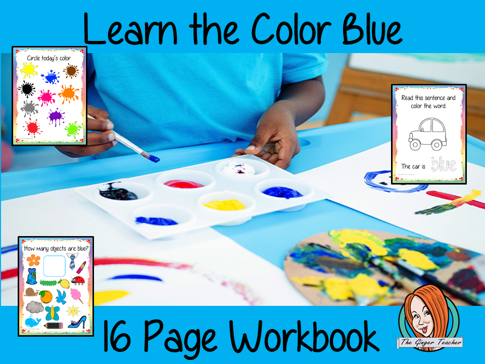 Color 'Blue' 16 Page Workbook