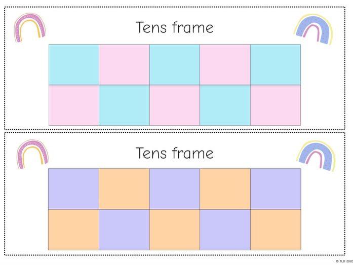 Pastel Tens frame