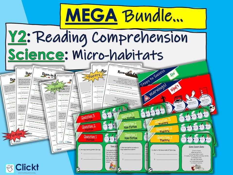 Year 2 Reading Comprehension MEGA-BUNDLE: Science: Micro-habitats