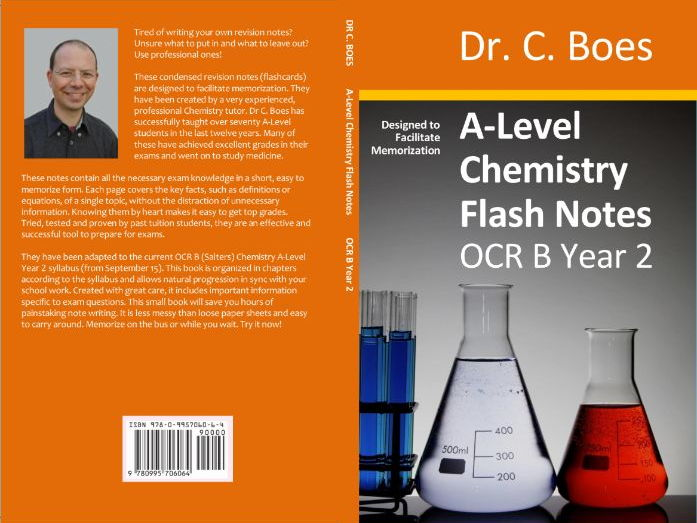 OCR B A-Level Chemistry Condensed Revision Notes (Flashcards) Year 2