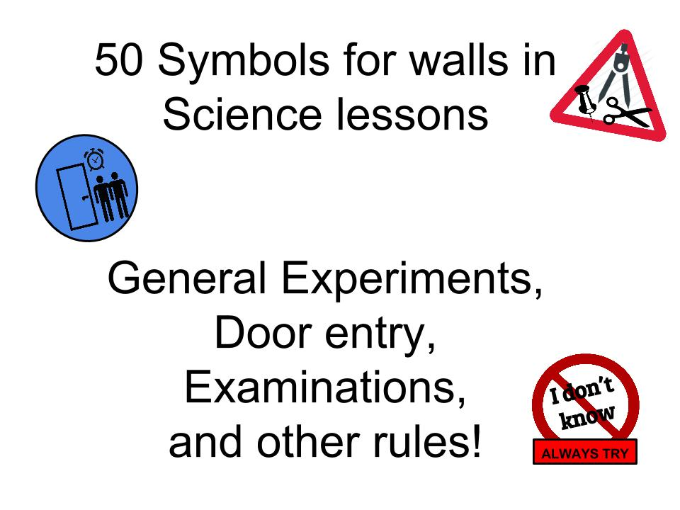 Icons for Behaviour for Learning: displays for the door, walls, warnings, rules... Over 50 symbols.