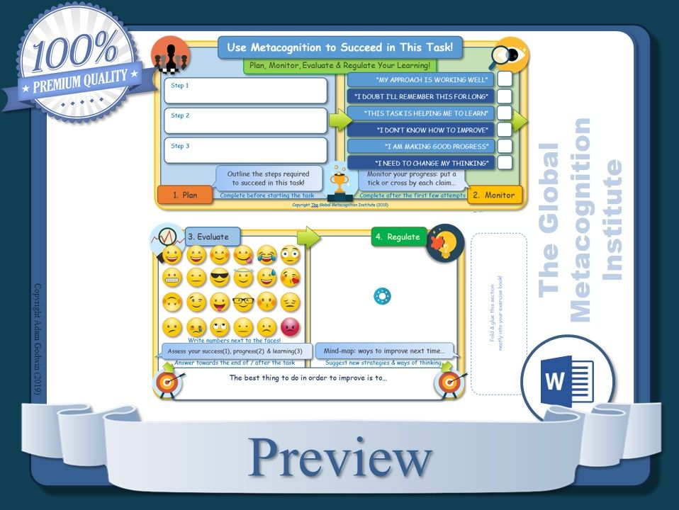 Metacognition Worksheets (x10)