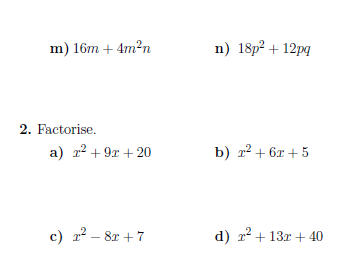 11 GCSE maths worksheets (with solutions)