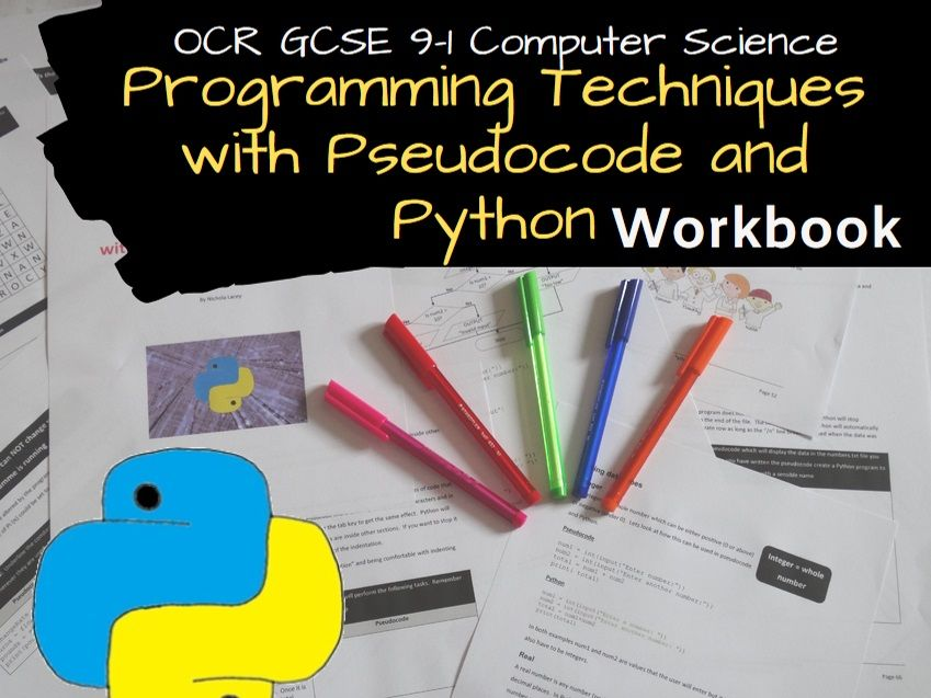 Programming techniques with pseudocode and Python OCR GCSE 9-1