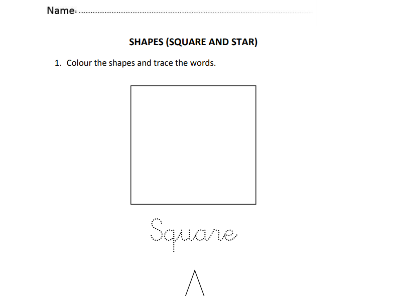 Shapes for Nursery and Reception Students