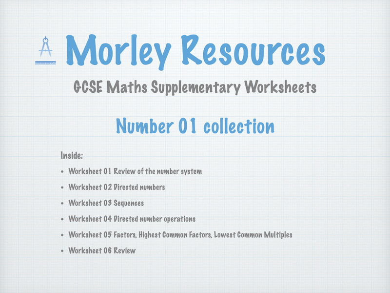 Numbers 01 GCSE Maths Collection