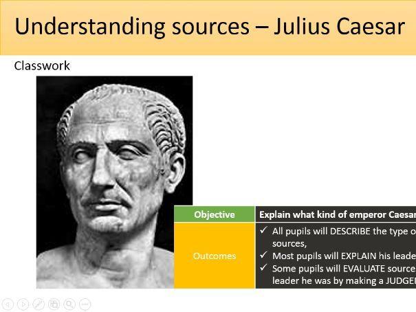 Using sources - Julius Caesar