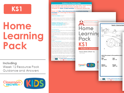 FREE Week 12 French Home Learning Pack for KS1
