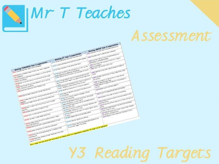 Year 3 ReadingTargets Assessment