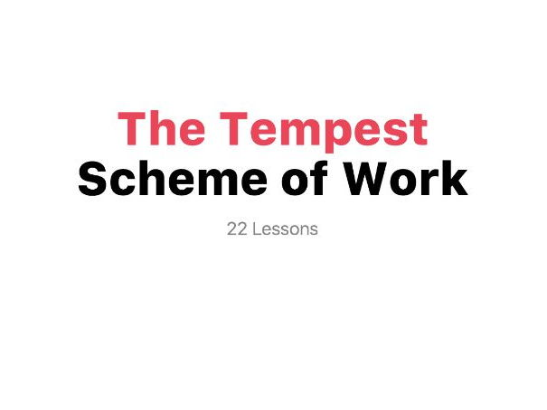 The Tempest - Scheme of Work