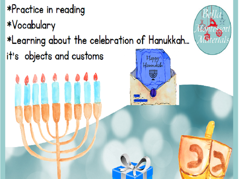 Hanukkah Three Part Cards