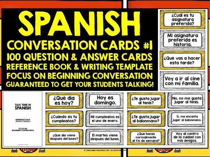 SPANISH CONVERSATION CARDS #1