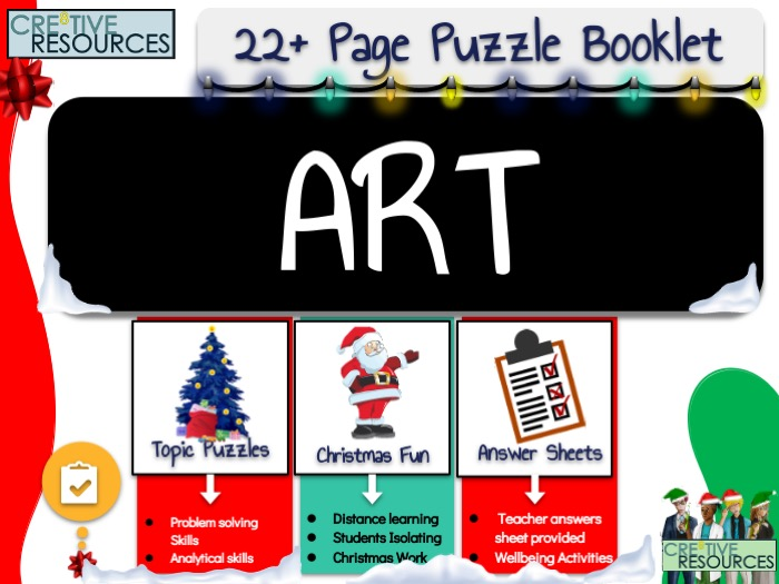 ART Christmas Puzzle Work Book