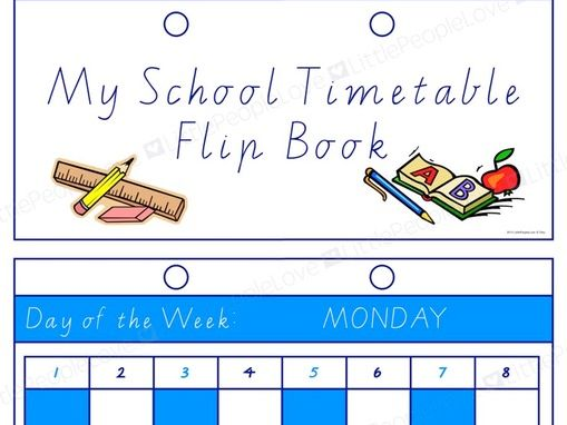 My School Timetable-Flip Book