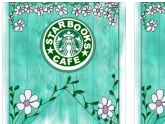 Starbooks Cafe Bunting- Teal Wood Effect
